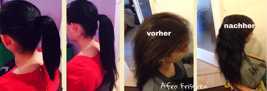 Weaving oder Haarverlängerung